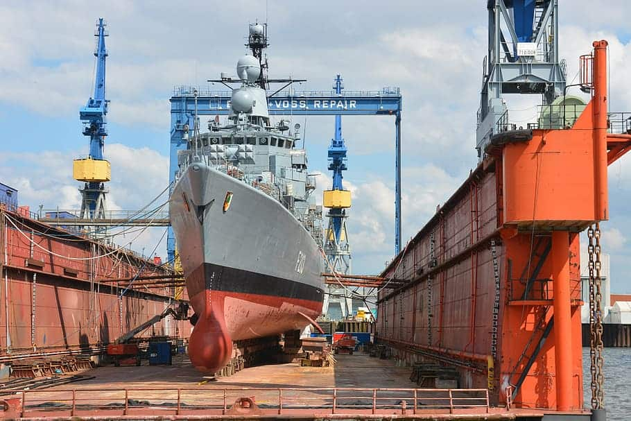 ship in shipyard